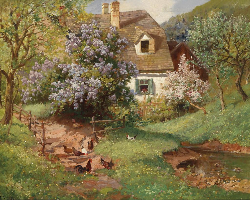 <b>«Summer Landscape»,</b> 1944<br />Музей истории искусств,Вена. 30x40.Холст, масло. Самарин Н. 2012<br />Цена с багетом  - после согласования
