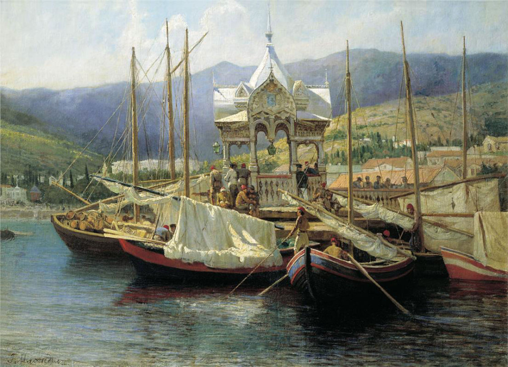 <b>«Пристань в Ялте»,</b> 1890<br />Владимиро-Суздальский музей-заповедник,  <b>