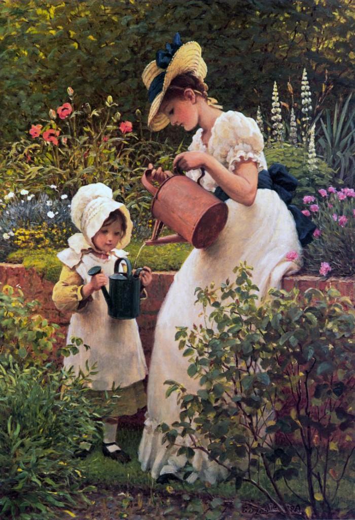 всех садовник влюбился хозяйку тихо подкрался