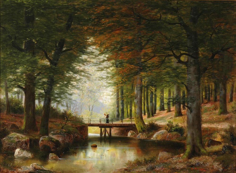 <b>«In Vienna Woods»,</b> 1942<br />Музей Лихтенштейна,Вена. 30x40.Холст, масло. Самарин Н. 2010<br />Цена с багетом  - после согласования