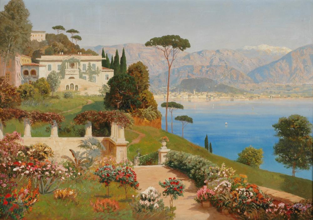 <b>«Lake Como, Italy»,</b> 1926<br />Музей искусства и истории, Женева. 30x40.Холст, масло. Самарин Н. 2013<br />Цена с багетом  - после согласования.