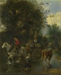 744888_photoshopia_ru_223_Jan_Siberechts_-_A_Cowherd_passing_a_Horse_and_Cart_in_a_Stream__Sobranie_Londonskoy_Nacional_noy_Galerei