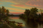 800px-John_Frederick_Kensett,_Sunset_with_Cows,_1856__Oil_on_canvas,_Emily_Dickinson_Museum