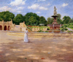 An-Early-Stroll-in-the-Park--Oil-Painting-Reproduction-On-Canvas