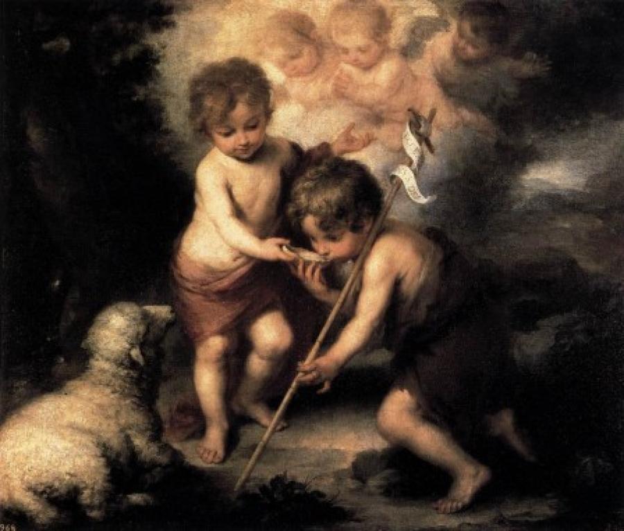 Das-Jesuskind-reicht-Johannes-dem-Taeufer-eine-Schale-Wasser-von-Bartolome-Esteban-Murillo-37948.jpg