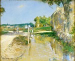 Frederick-Childe-Hassam-xx-A-Country-Road-xx-Private-Collection