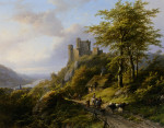 Klombeck_Johann_Bernhard_Figures_Near_a_Ruin_in_A_Landscape_Oil_on_Panel-huge