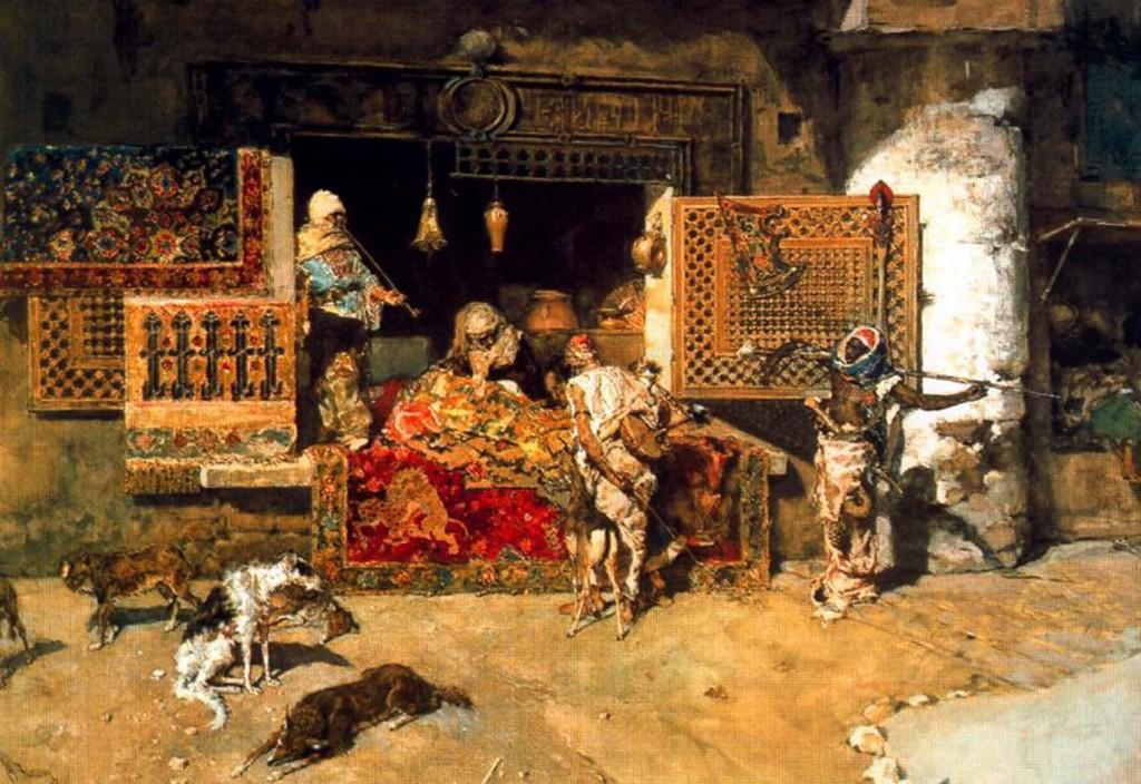 <b>«Продавец ковров»,</b> 1870<br />Музей истории искусств, Вена.<b> Копия :</b>   30x40.Холст, масло. Ерофеев М . 2011<br />Цена с багетом 19100 р.<b> Не является публичной офертой.</b>