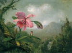 Martin_Johnson_Heade_-_Orchid_and_Hummingbird_near_a_Mountain_Waterfall