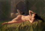 Odalisque-Jose-Maria-Bernardo-Fortuny-y-Carbo-flirtatious-inviting-kissable-Femme-Classic-Art-large
