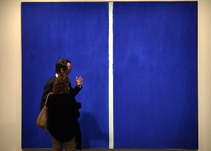 """Onement VI"" by Barnett Newman is on dis"
