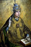 Spanish-Painter-Pedro-Berruguete-Pope-Gregory-Oil-Painting