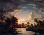 abels-jacobus-landscape-at-moonlight-sun-artfond