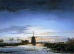 abels-jacobus-theodorus-fishermen-at-dusk-sun-artfond
