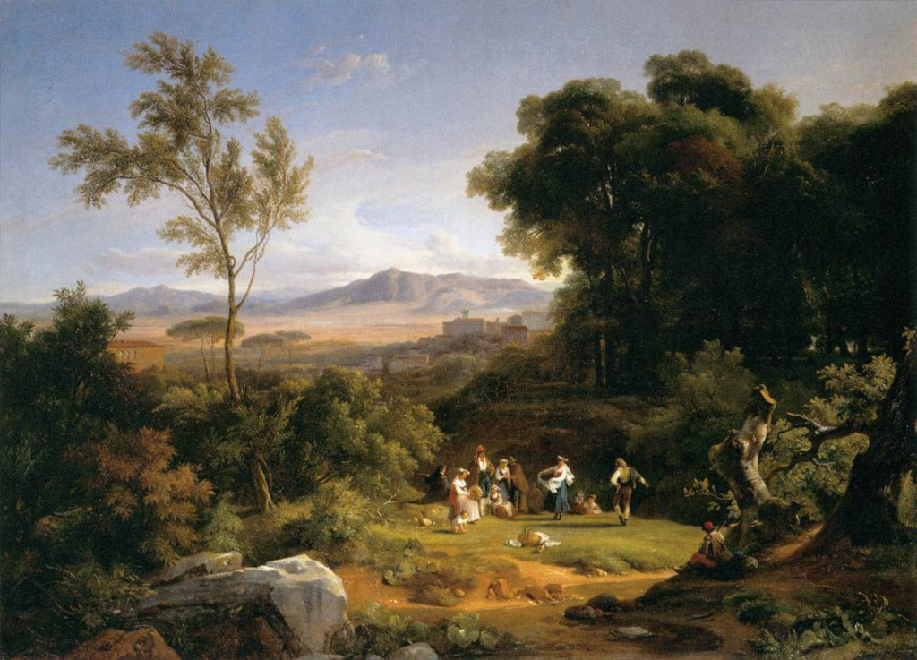 landscape painting analysis the harbor of la