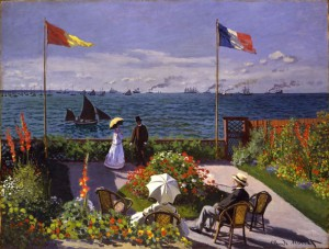 "Handout photo of ""Garden at Sainte-Adresse"", painted by Claude Monet in 1867"