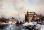 leickert-charles-winterlandscape-with-frozen-canal-sun-artfond