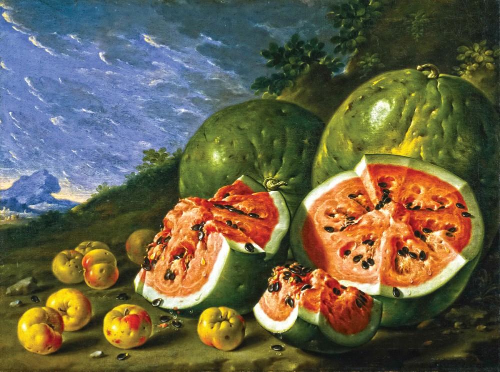 Натюрморт с арбузами и яблоками », 1771 ...: www.stydiai.ru/gallery/luis-melendez